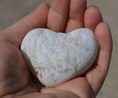 white heart rock